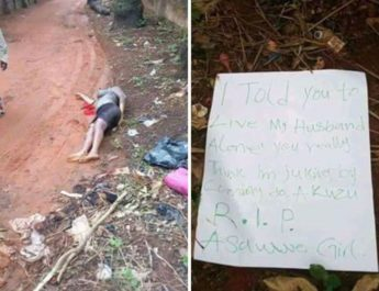 Undergraduate student killed by her sugar daddy wife at Anambra