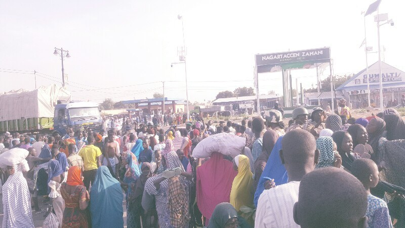 IDPs protest in Maiduguri, say they are dying of hunger